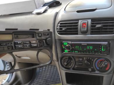 Kenwood KMM-BT306 fitted in Nissan B15