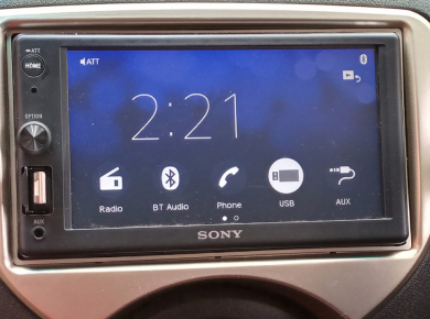 Nissan march fitted with Sony car radio XAV-1500