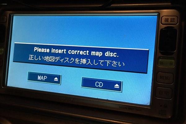 Stock car radio - insert correct map disc error