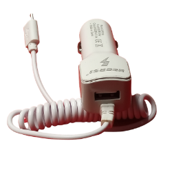 2 in 1 USB car charger