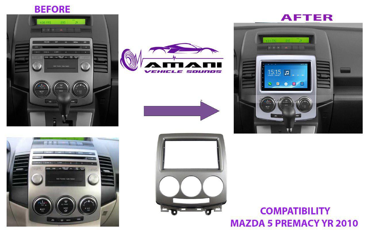 Car radio dash kit fascia console for Mazda 5 Premacy 2005-2010.