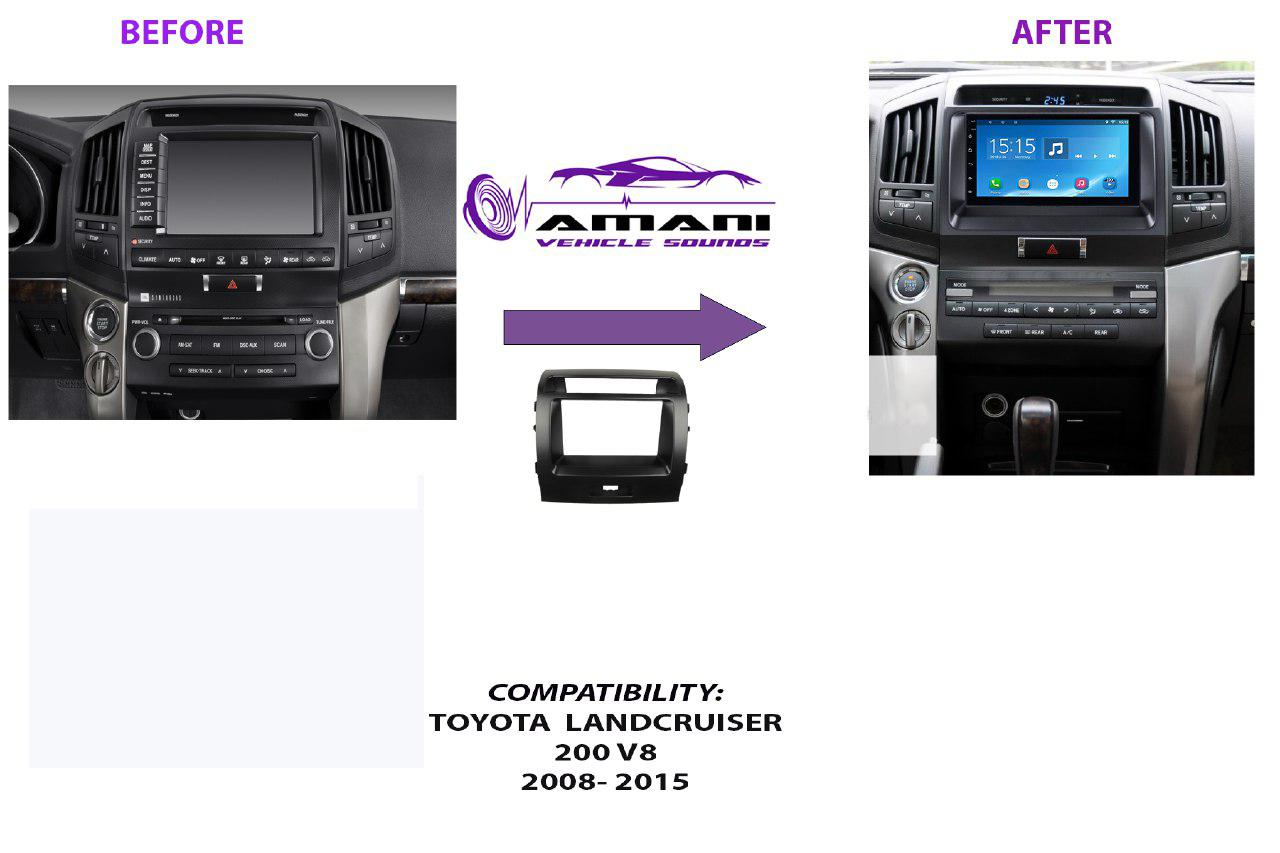Double Din Radio Fascia Console for Alphard 2008+