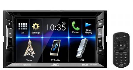 JVC KW-V230BTM Car Stereo with spotify & Reverse camera input.