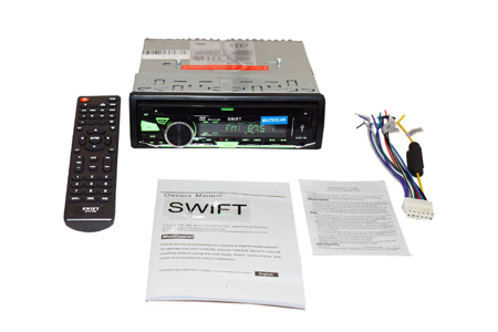 Swift car radio with Bluetooth FM USB SD Card slot DVD Player.