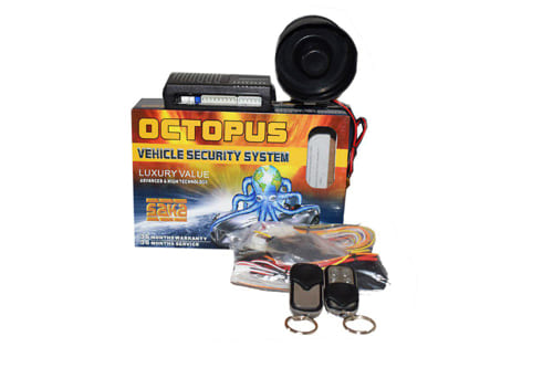 Octopus one way car alarm with anti-hijack.