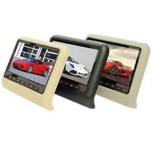 9 inch TFT led screen headrest monitor with DVD player, games.