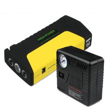 Car jump starter kit with air compressor 50800MAH