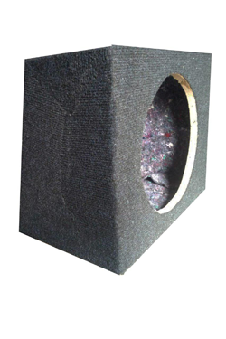 Space saving 12 inch bass speaker cabinet.