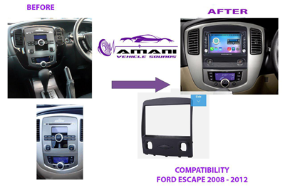 Double din car radio fascia for 2006 to 2012 ford escape Mazda tribute.