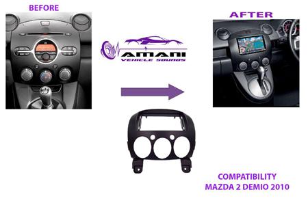 Car radio dash kit fascia for Mazda 2 Demio 2007+