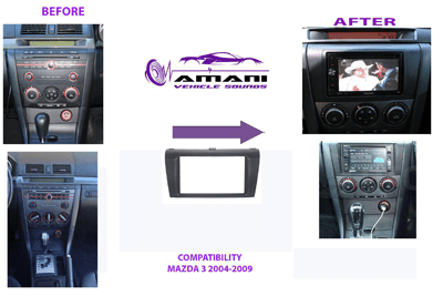 Car radio dash kit Fascia for Mazda 3 Axela 2004-2009.