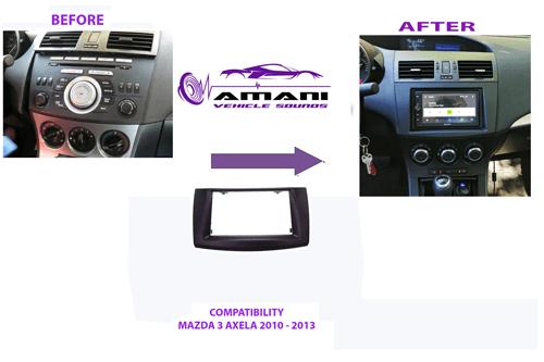 Car radio dash kit Fascia for Mazda 3 Axela 2010-2013.