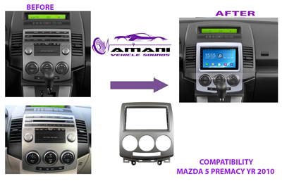 Car Radio Dash Kit Fascia Console for Mazda 5 Premacy 2005-2010