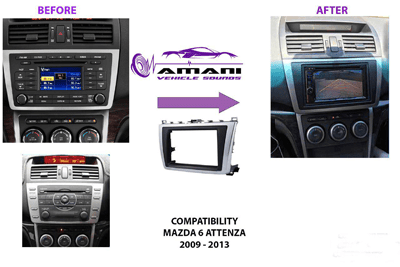 Car radio dash kit fascia console for Mazda 6 Attenza 2008-2013.