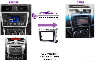 CAR RADIO DASH KIT FACIA CONSOLE FOR MAZDA 6 ATTENZA 2008-2013