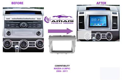 Car radio dash kit fascia console for Mazda 8 year 2006 plus.