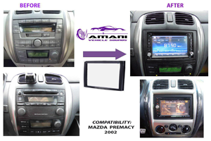 Car radio dash kit fascia console for Mazda Premacy year 2002.