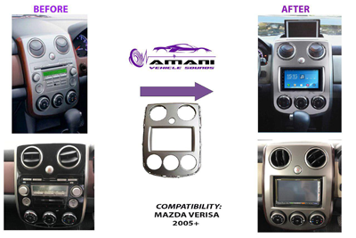 Car radio dash kit fascia console for Mazda Verisa year 2005 plus.