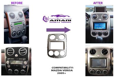 Car Radio Dash Kit Fascia Console  for Mazda Verisa Year 2005 Plus