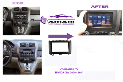 Double din car radio fascia for 2008-2011 Honda CRV.