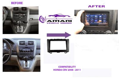 Double din car radio fascia for 2008-2011 Honda CRV.