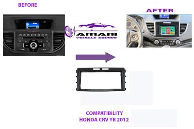Double Din Car Radio Fascia For 2012-2014 Honda Crv