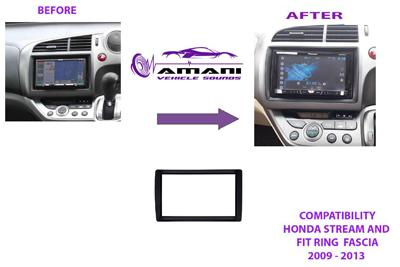 2Din Car Stereo Radio Fascia Ring For 2009 2010 2012 2013 Honda Stream Fit