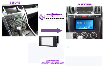 Double din stereo fascia panel for land rover discovery range rover Freelander.
