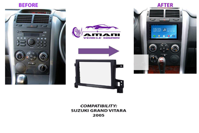 Double Din Car Radio Fascia Console for 2005 Suzuki Grand Vitara