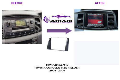 Toyota corolla NZE fielder fascia panel year 2001-2006.