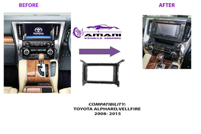 Fascia conversion kit for Toyota Alphard & Velfire 2015+