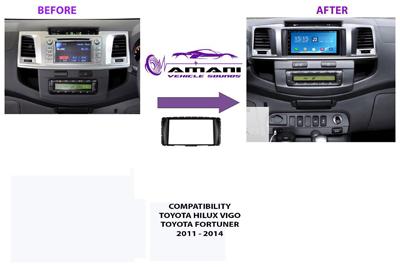 Car Radio Fascia Frame Kit for Toyota Hilux Vigo Fortuner 2011+