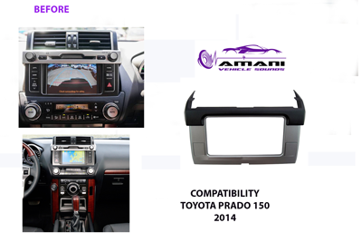 DOUBLE DIN TOYOTA PRADO 150 YEAR 2014 PLUS CAR RADIO FASCIA INSTALLATION KIT