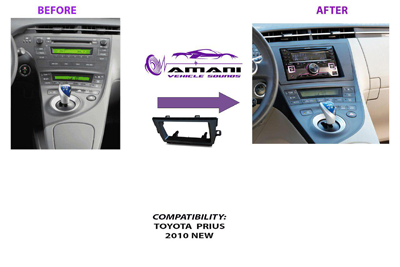 Double din Toyota Prius 2010 car radio fascia installation kit.