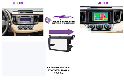 Double din Toyota Rav 4 Year 2013+ car radio fascia installation kit.