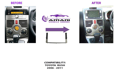 Double din stereo fascia panel for Toyota rush 2006 +