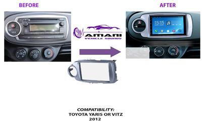 2 din 2012 Toyota Vitz Yaris car radio fascia