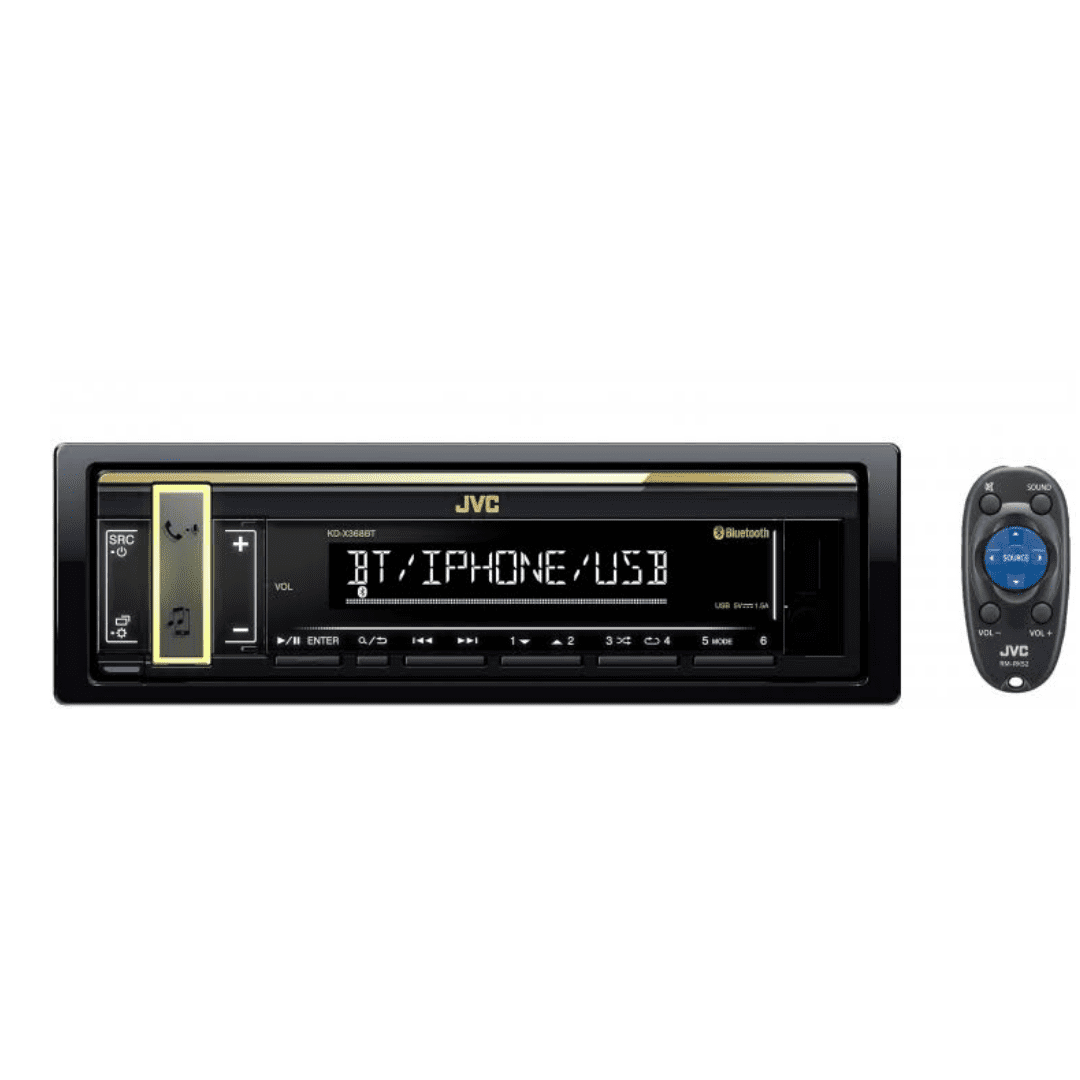 Jvc One Din FM Bluetooth Receiver KD-X368BT Car Radio