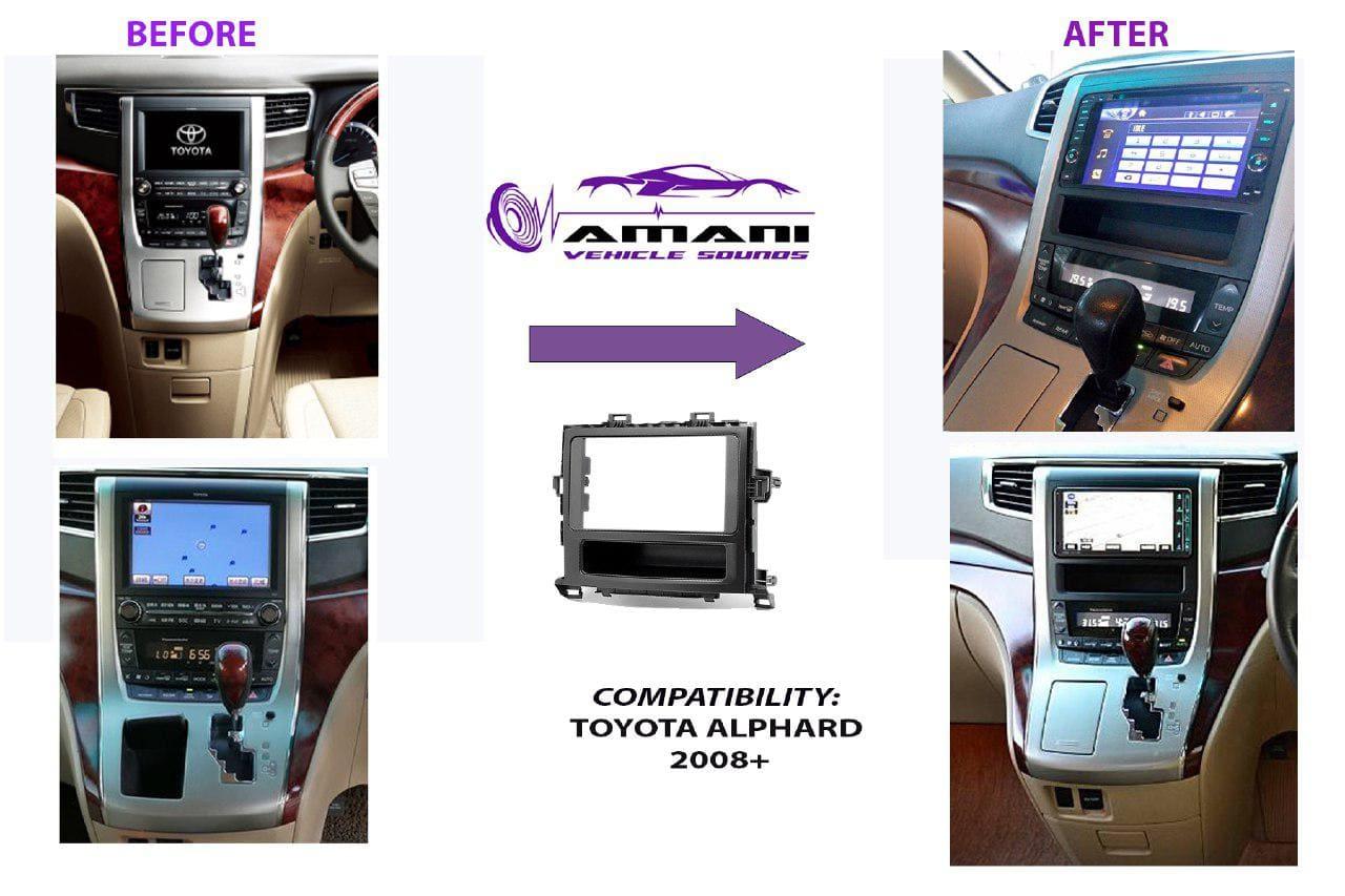 Double din radio fascia console for Alphard 2008+