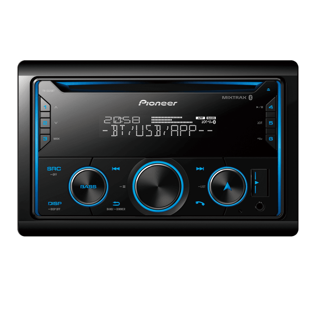 Pioneer FH-S525BT Car Audio Receiver.