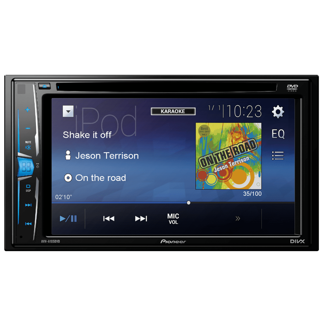 Pioneer AVH-A105DVD Car Radio DVD player.
