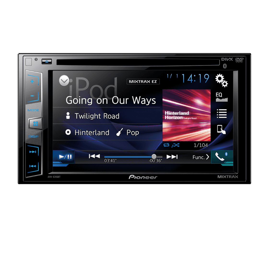 Pioneer AVH-X395BT Car Radio With Bluetooth USB DVD Player.