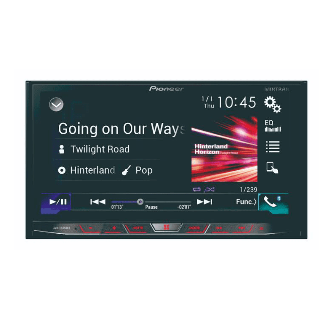 Pioneer AVH-X8850BT Car Stereo with Inbuilt Navigation Maps.