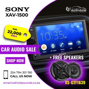 Sony XAV-1500 Car Radio with weblink cast