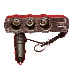 3 socket cigarettes' lighter Adapter