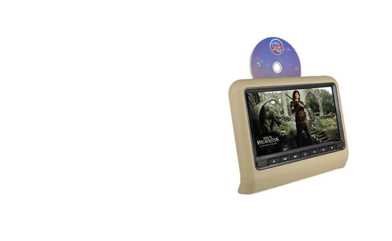 9 Inch TFT LED Screen Headrest Monitor With DVD Player, Games