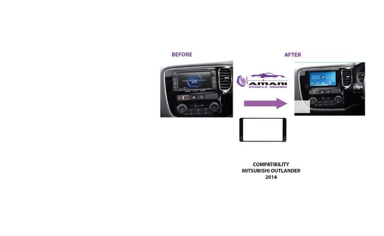 Double Din Car Radio Fascia Console for 2014 Mistubishi Outlander