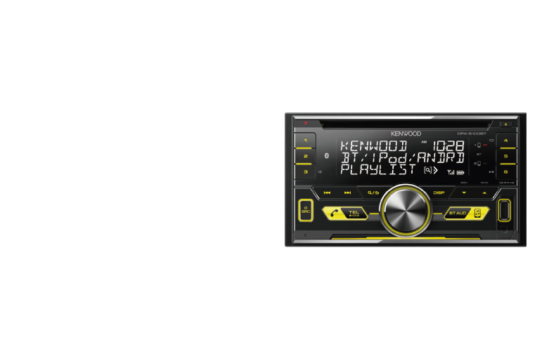 KENWOOD DPX-5100BT In dash Car Stereo with Bluetooth