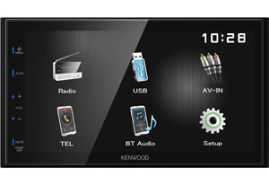 "Kenwood 6.8"" Car Radio with USB Mirroring DMX12OBT"